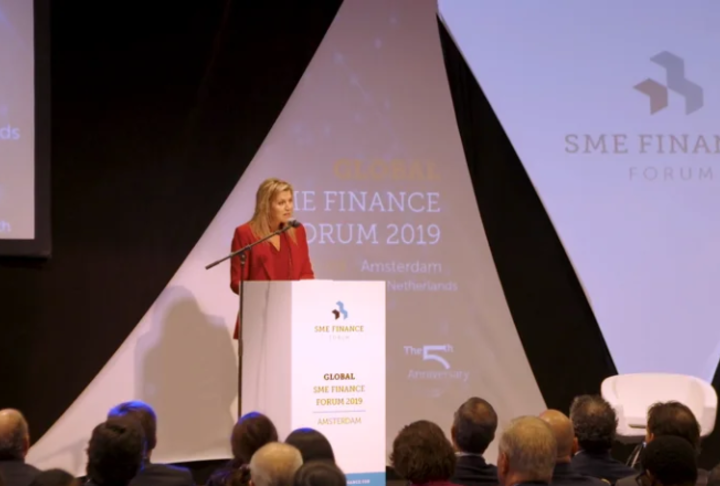 Video: H.M. Queen Máxima of the Netherlands speaks at the Global SME Finance Forum 2019