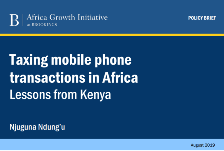 Paper Cover Taxi Mobile Transactions in Africa