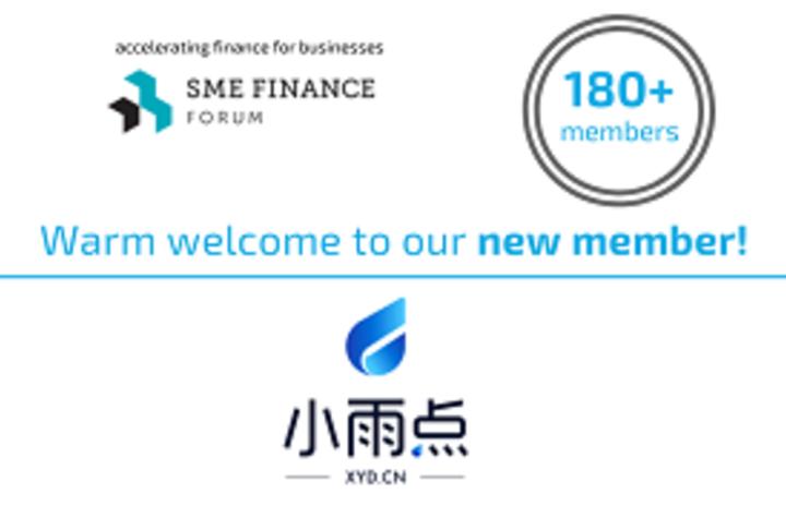 Social media card welcoming new member SimpleCredit to 180 membership network