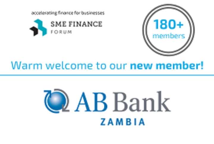 Social media card welcoming new member AB Bank Zambia to 180 membership network