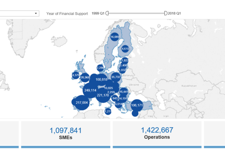 EIF Interactive Map of Supported SMEs