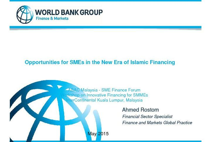 Opportunities for SMEs in the New Era of Islamic Financing