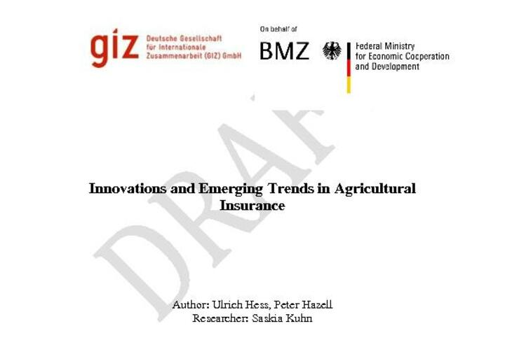 Innovations and Emerging Trends in Agricultural Insurance