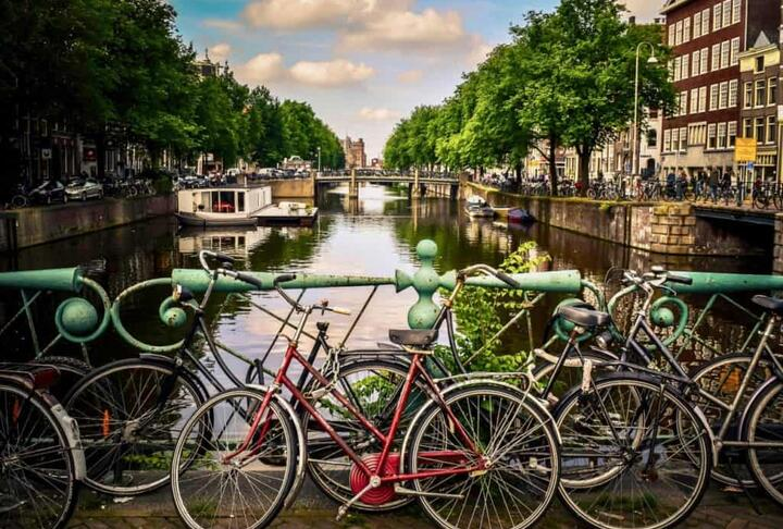 Amsterdam Bicycles by Jace Grandinetti
