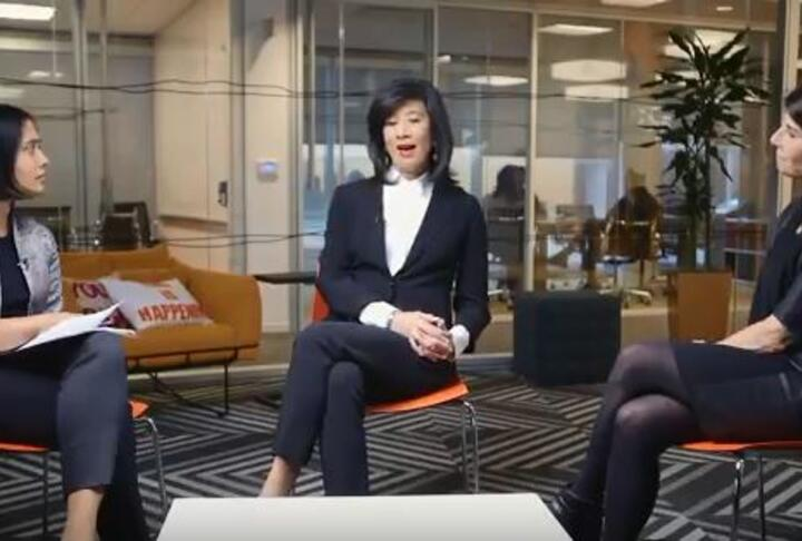 Video: Andrea Jung & Gina Harman on Female Entrepreneurship Finance