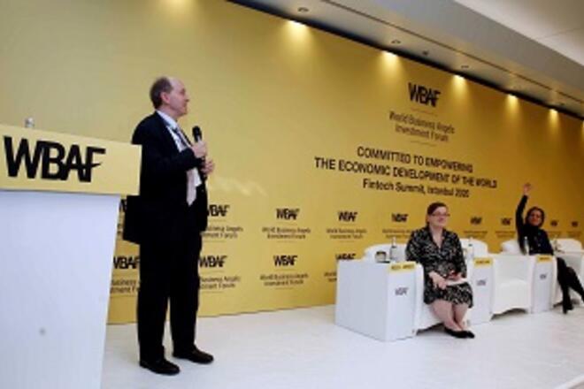 Matt Gamser moderating the WBAF 2020 Fintech Summit