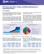 IFC Financing to Micro, Small, and Medium Enterprises in Sub-Saharan Africa