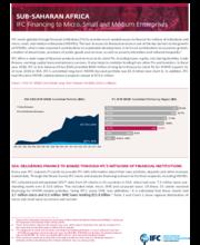 IFC Financing to Micro, Small and Medium Enterprises - Sub-Saharan Africa